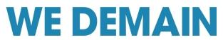 logo officiel WE DEMAIN HD bleu ss baseline